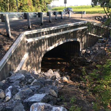 Completed Project: Mill Road, Limestone Township Aluminum Box Culverts